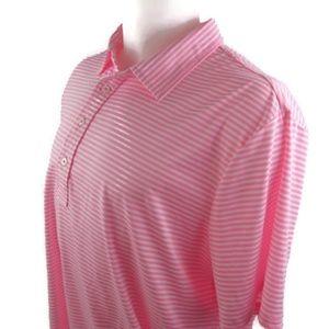 Ralph Lauren RLX Pink & White Golf Shirt